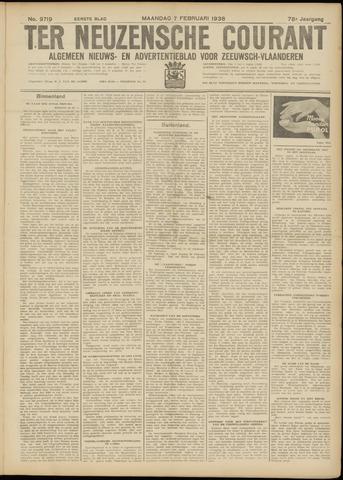 Ter Neuzensche Courant. Algemeen Nieuws- en Advertentieblad voor Zeeuwsch-Vlaanderen / Neuzensche Courant ... (idem) / (Algemeen) nieuws en advertentieblad voor Zeeuwsch-Vlaanderen 1938-02-07