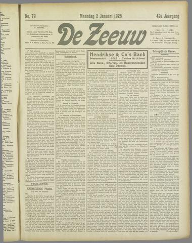 De Zeeuw. Christelijk-historisch nieuwsblad voor Zeeland 1928
