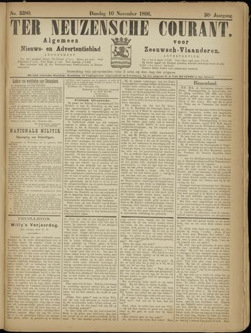 Ter Neuzensche Courant. Algemeen Nieuws- en Advertentieblad voor Zeeuwsch-Vlaanderen / Neuzensche Courant ... (idem) / (Algemeen) nieuws en advertentieblad voor Zeeuwsch-Vlaanderen 1896-11-10