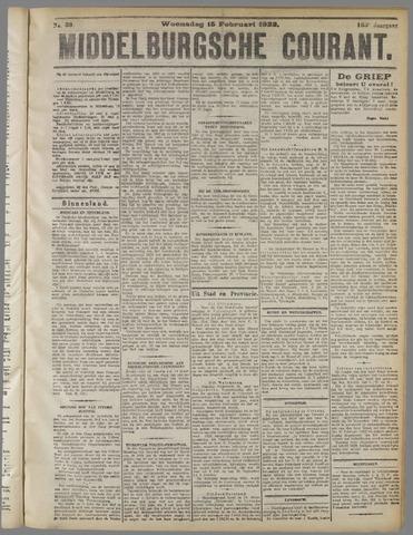 Middelburgsche Courant 1922-02-15