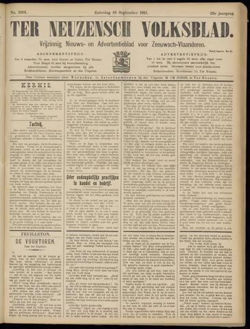 Ter Neuzensch Volksblad. Vrijzinnig nieuws- en advertentieblad voor Zeeuwsch- Vlaanderen / Zeeuwsch Nieuwsblad. Nieuws- en advertentieblad voor Zeeland 1911-09-16
