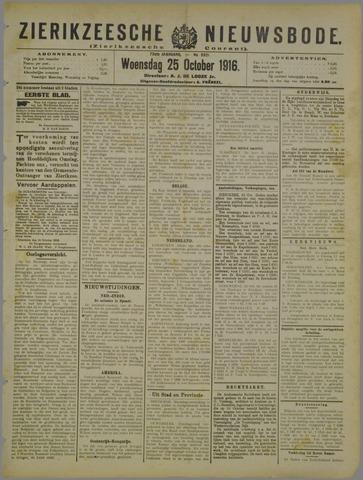 Zierikzeesche Nieuwsbode 1916-10-25
