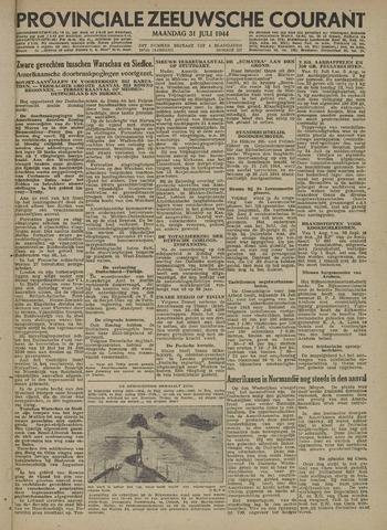 Provinciale Zeeuwse Courant 1944-07-31