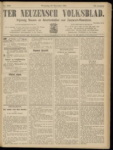 Ter Neuzensch Volksblad. Vrijzinnig nieuws- en advertentieblad voor Zeeuwsch- Vlaanderen / Zeeuwsch Nieuwsblad. Nieuws- en advertentieblad voor Zeeland 1911-11-22