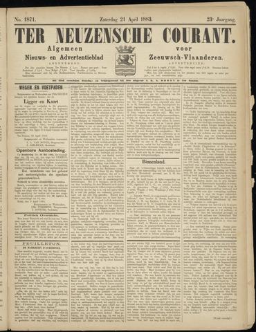 Ter Neuzensche Courant. Algemeen Nieuws- en Advertentieblad voor Zeeuwsch-Vlaanderen / Neuzensche Courant ... (idem) / (Algemeen) nieuws en advertentieblad voor Zeeuwsch-Vlaanderen 1883-04-21