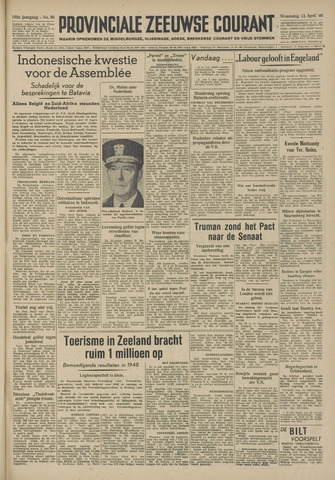 Provinciale Zeeuwse Courant 1949-04-13