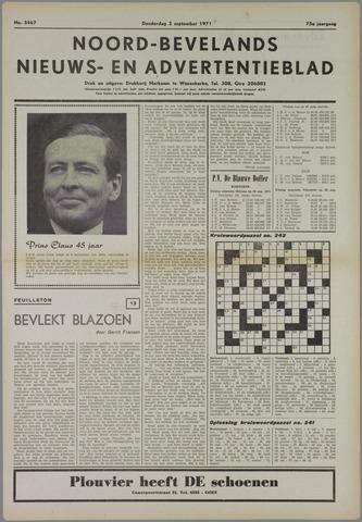 Noord-Bevelands Nieuws- en advertentieblad 1971-09-02
