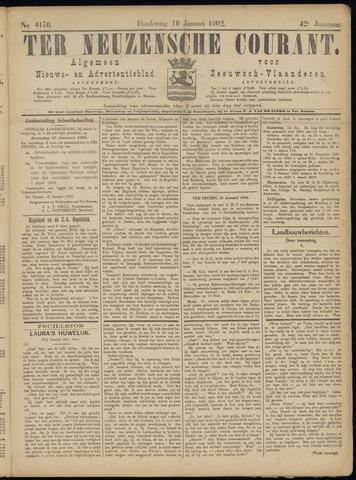 Ter Neuzensche Courant. Algemeen Nieuws- en Advertentieblad voor Zeeuwsch-Vlaanderen / Neuzensche Courant ... (idem) / (Algemeen) nieuws en advertentieblad voor Zeeuwsch-Vlaanderen 1902-01-16