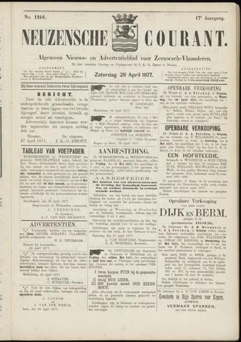 Ter Neuzensche Courant. Algemeen Nieuws- en Advertentieblad voor Zeeuwsch-Vlaanderen / Neuzensche Courant ... (idem) / (Algemeen) nieuws en advertentieblad voor Zeeuwsch-Vlaanderen 1877-04-28