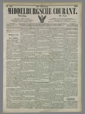 Middelburgsche Courant 1891-06-22