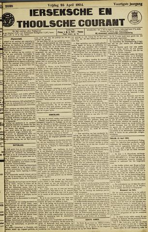 Ierseksche en Thoolsche Courant 1924-04-25