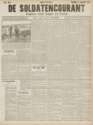 De Soldatencourant. Orgaan voor Leger en Vloot 1917-01-05