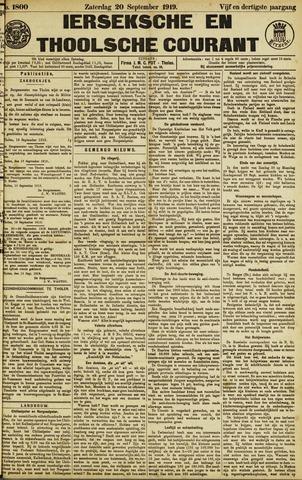 Ierseksche en Thoolsche Courant 1919-09-20