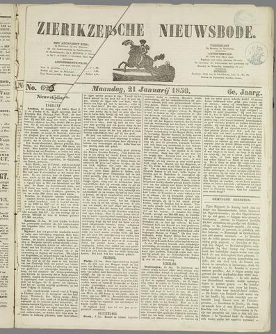 Zierikzeesche Nieuwsbode 1850-01-21
