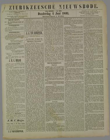 Zierikzeesche Nieuwsbode 1891-06-04