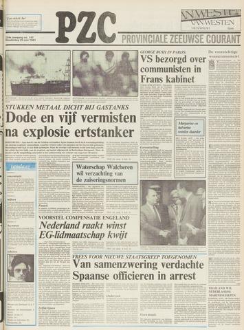 Provinciale Zeeuwse Courant 1981-06-25
