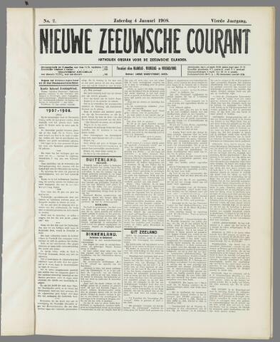 Nieuwe Zeeuwsche Courant 1908-01-04