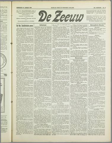 De Zeeuw. Christelijk-historisch nieuwsblad voor Zeeland 1934-01-18