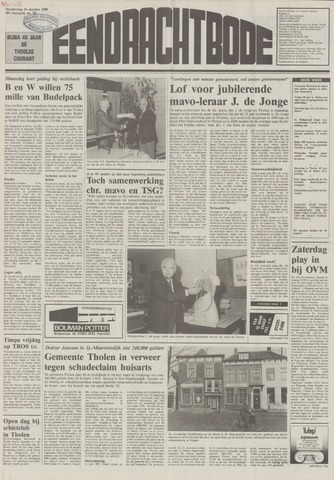 Eendrachtbode (1945-heden)/Mededeelingenblad voor het eiland Tholen (1944/45) 1989-10-26