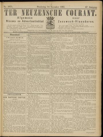 Ter Neuzensche Courant. Algemeen Nieuws- en Advertentieblad voor Zeeuwsch-Vlaanderen / Neuzensche Courant ... (idem) / (Algemeen) nieuws en advertentieblad voor Zeeuwsch-Vlaanderen 1907-11-14
