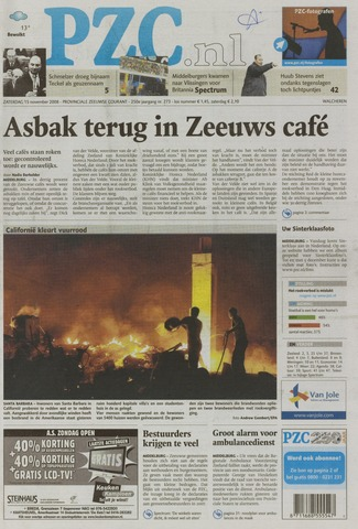 Provinciale Zeeuwse Courant 2008-11-15