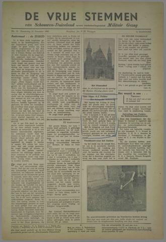Vrije Stemmen van Schouwen-Duiveland, tevens mededeelingenblad Militair Gezag 1945-11-22