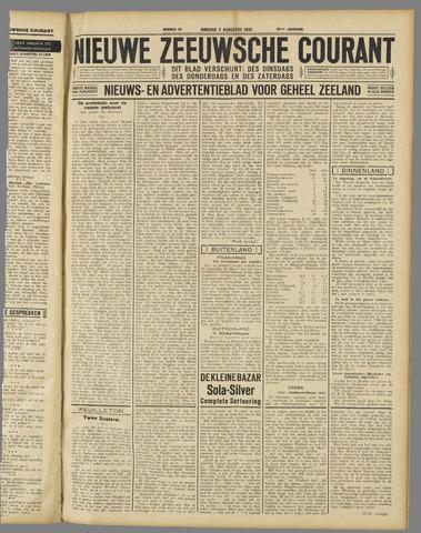 Nieuwe Zeeuwsche Courant 1932-08-02