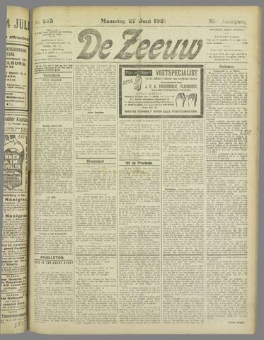 De Zeeuw. Christelijk-historisch nieuwsblad voor Zeeland 1921-06-27