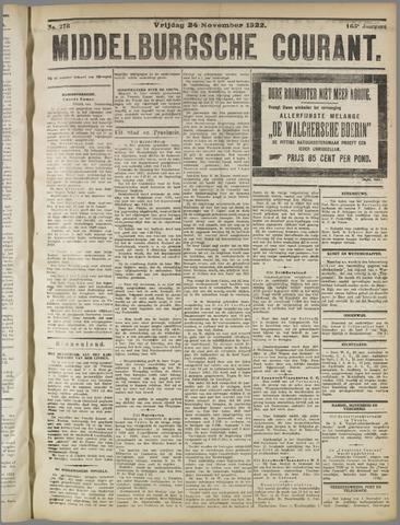 Middelburgsche Courant 1922-11-24