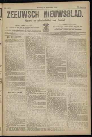 Ter Neuzensch Volksblad. Vrijzinnig nieuws- en advertentieblad voor Zeeuwsch- Vlaanderen / Zeeuwsch Nieuwsblad. Nieuws- en advertentieblad voor Zeeland 1919-09-20