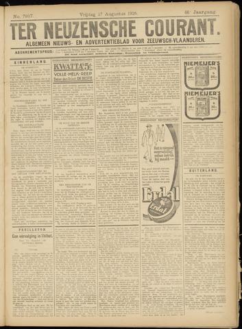 Ter Neuzensche Courant. Algemeen Nieuws- en Advertentieblad voor Zeeuwsch-Vlaanderen / Neuzensche Courant ... (idem) / (Algemeen) nieuws en advertentieblad voor Zeeuwsch-Vlaanderen 1926-08-27