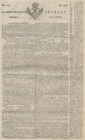 Middelburgsche Courant 1762-10-05
