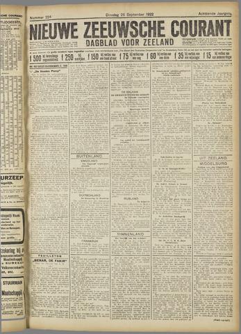 Nieuwe Zeeuwsche Courant 1922-09-26