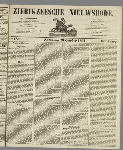 Zierikzeesche Nieuwsbode 1861-10-26
