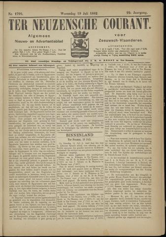 Ter Neuzensche Courant. Algemeen Nieuws- en Advertentieblad voor Zeeuwsch-Vlaanderen / Neuzensche Courant ... (idem) / (Algemeen) nieuws en advertentieblad voor Zeeuwsch-Vlaanderen 1882-07-19