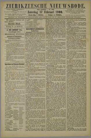 Zierikzeesche Nieuwsbode 1900-02-17