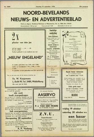 Noord-Bevelands Nieuws- en advertentieblad 1956-09-22
