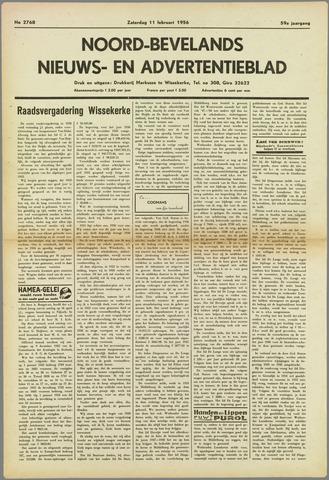 Noord-Bevelands Nieuws- en advertentieblad 1956-02-11