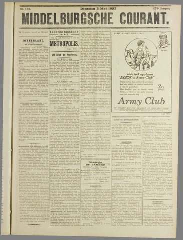 Middelburgsche Courant 1927-05-03