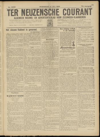 Ter Neuzensche Courant. Algemeen Nieuws- en Advertentieblad voor Zeeuwsch-Vlaanderen / Neuzensche Courant ... (idem) / (Algemeen) nieuws en advertentieblad voor Zeeuwsch-Vlaanderen 1935-07-31