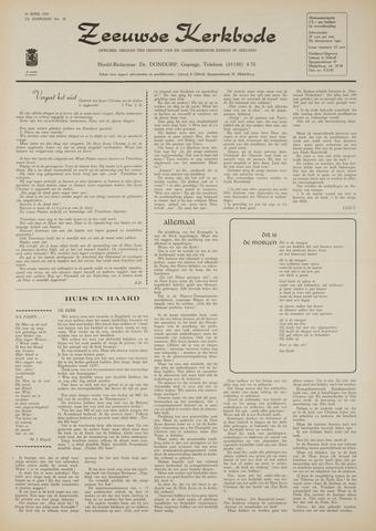 Zeeuwsche kerkbode, weekblad gewijd aan de belangen der gereformeerde kerken/ Zeeuwsch kerkblad 1970-04-16