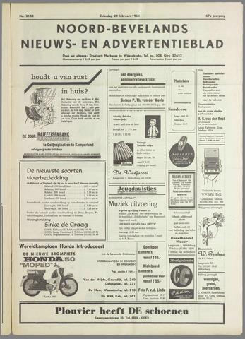 Noord-Bevelands Nieuws- en advertentieblad 1964-02-29