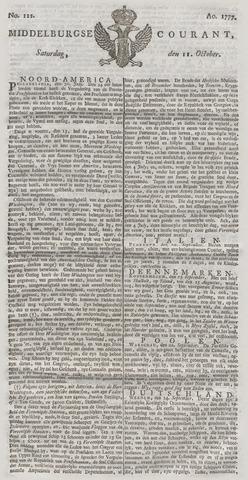 Middelburgsche Courant 1777-10-11