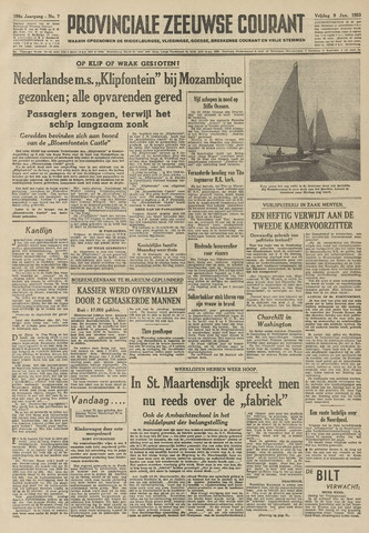 Provinciale Zeeuwse Courant 1953-01-09