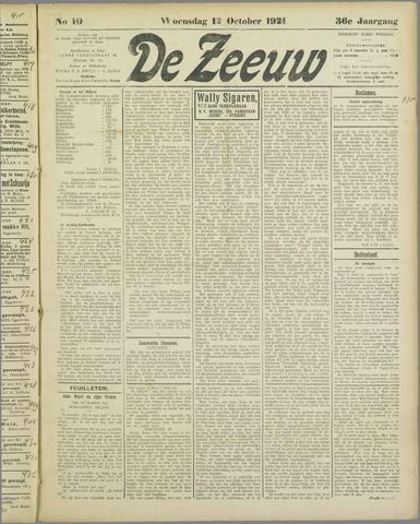 De Zeeuw. Christelijk-historisch nieuwsblad voor Zeeland 1921-10-12