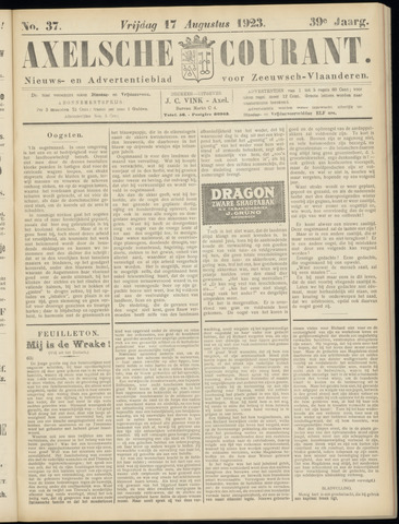 Axelsche Courant 1923-08-17