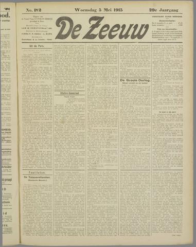 De Zeeuw. Christelijk-historisch nieuwsblad voor Zeeland 1915-05-05