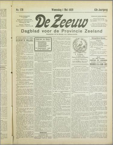 De Zeeuw. Christelijk-historisch nieuwsblad voor Zeeland 1929-05-01