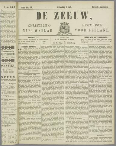 De Zeeuw. Christelijk-historisch nieuwsblad voor Zeeland 1888-07-07