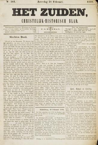 Het Zuiden, Christelijk-historisch blad 1880-02-21